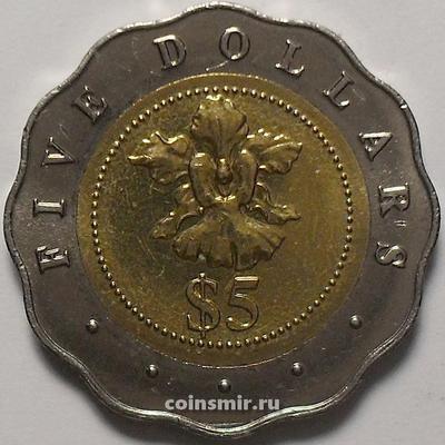 5 долларов 2002 Сингапур.