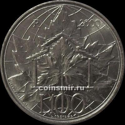 100 лир 2000 Сан-Марино. Экология.