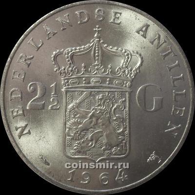2 1/2 гульдена 1964 Нидерландские Антильские острова.