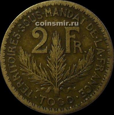 2 франка 1924 французское Того.