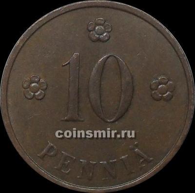 10 пенни 1937 Финляндия.