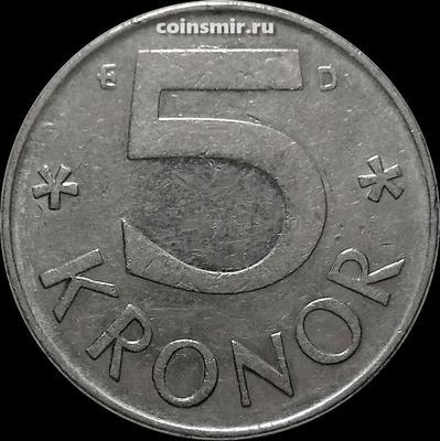 5 крон 1989 D Швеция.
