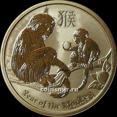 1 доллар 2016 Австралия. Год обезьяны.