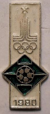 Значок Футбол. Олимпиада-80 в Москве.