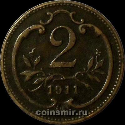 2 геллера 1911 Австрия.