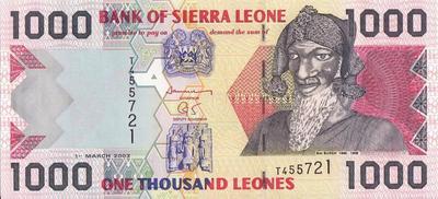 1000 леоне 2003 Сьерра-Леоне.