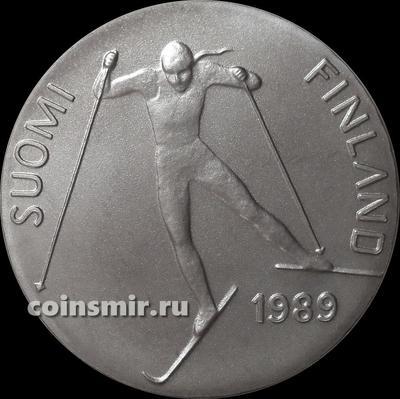 100 марок 1989 Финляндия. Чемпионат мира по лыжным гонкам в Лахти.
