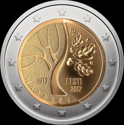 2 евро 2017 Эстония. Дорога Эстонии к независимости.