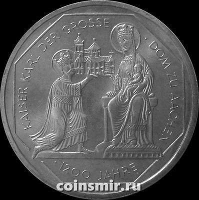 10 марок 2000 G Германия (ФРГ). 1200 лет Собору в Аахене.