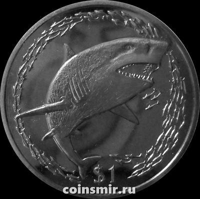 1 доллар 2016 Британские Виргинские острова. Лимонная акула.