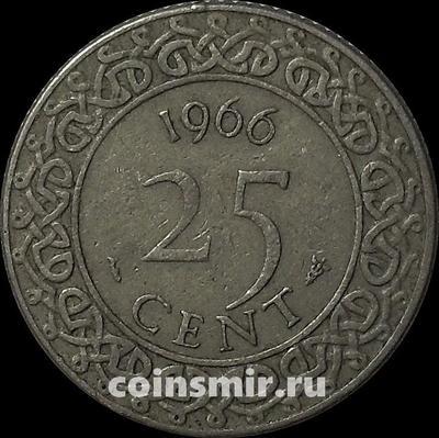25 центов 1966 Суринам.