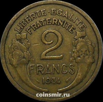 2 франка 1934 Франция.
