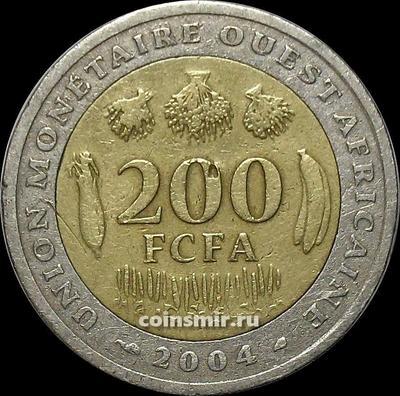 200 франков 2004  КФА BCEAO (Западная Африка).