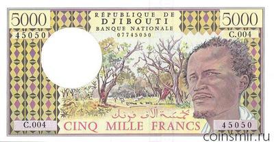 5000 франков 1979-2002 Джибути.