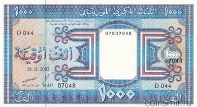 1000 угий 2002 Мавритания.