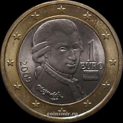 1 евро 2009 Австрия. Моцарт.