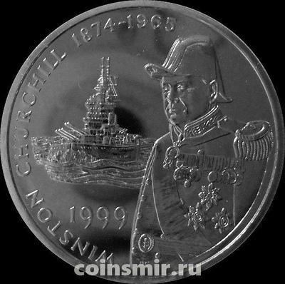 50 пенсов 1999 Фолклендские острова. Уинстон Черчилль.