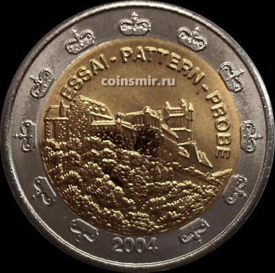 2 евро 2004 Лихтенштейн. Европроба. Ceros.