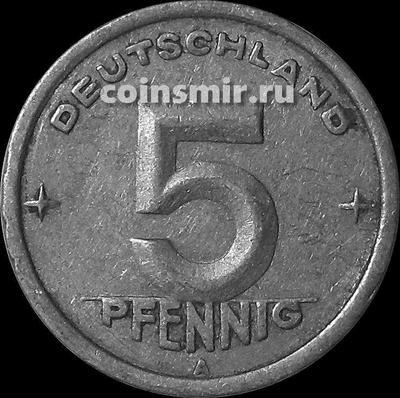 5 пфеннигов 1949 А Германия ГДР.