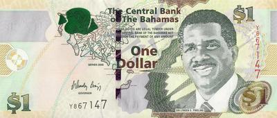 1 доллар 2008 Багамские острова.
