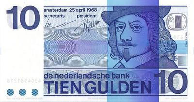 10 гульденов 1968 Нидерланды.
