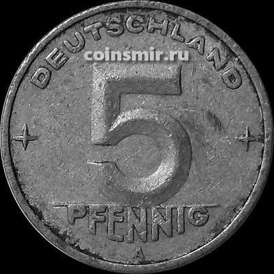 5 пфеннигов 1950 А ГДР.