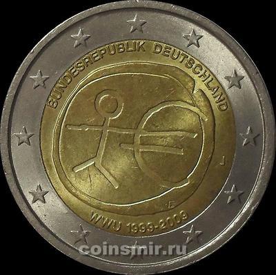 2 евро 2009 J Германия. 10 лет Экономическому и Валютному союзу.