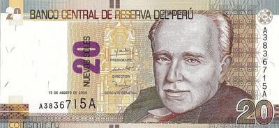 20 новых солей 2009 Перу.