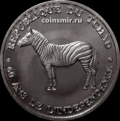500 франков 2020 Чад. Зебра. 60 лет независимости.