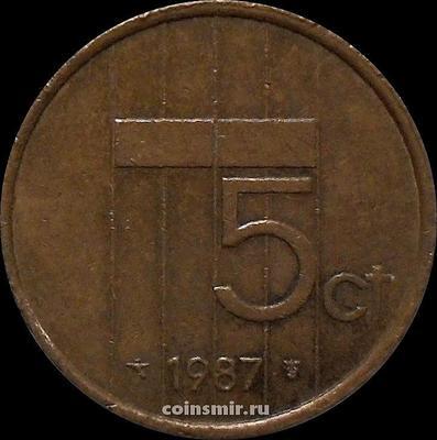 5 центов 1987 Нидерланды.