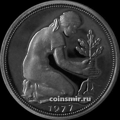 50 пфеннигов 1977 G ФРГ. Пруф.
