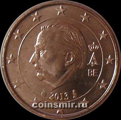 1 евроцент 2013 Бельгия. Король Альберт II.