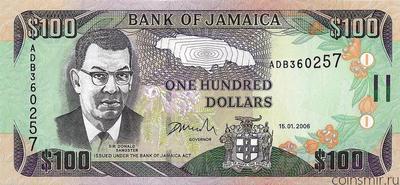 100 долларов 2006 Ямайка.
