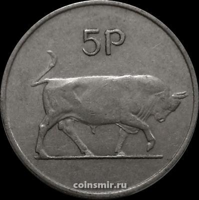 5 пенсов 1969 Ирландия. Бык.