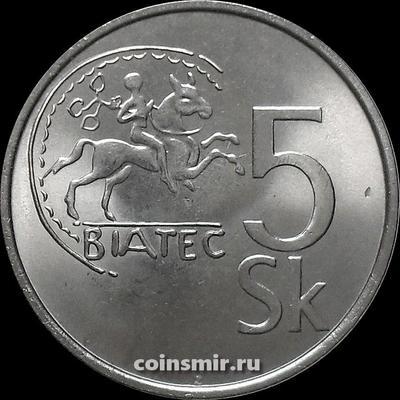 5 крон 2007 Словакия. Кельтская монета Биатек.