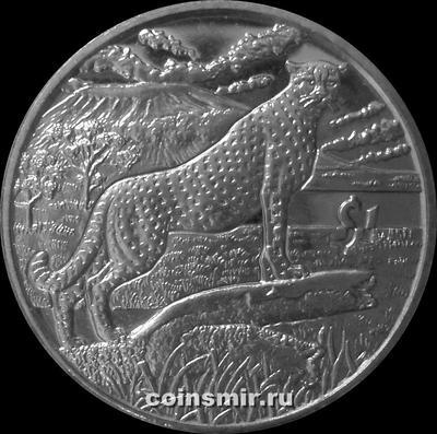 1 доллар 2007 Сьерра-Леоне. Гепард.