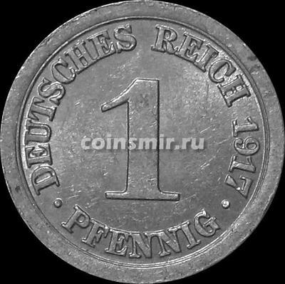 1 пфенниг 1917 А Германия.