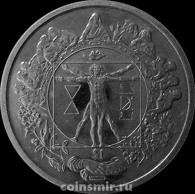 1 доллар 2006 Сьерра-Леоне. Леонардо да Винчи.