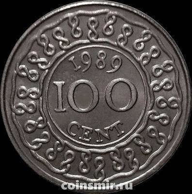 100 центов 1989 Суринам.