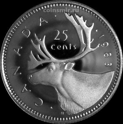 25 центов 1983 Канада. Пруф.