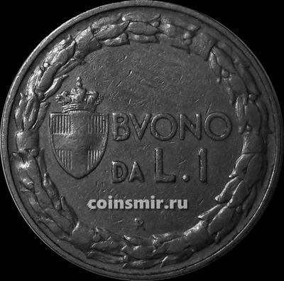 1 лира 1924 Италия.