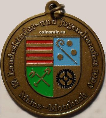 Медаль Майнц-Момбах, Германия. Фестиваль детской и юношеской гимнастики 1990.