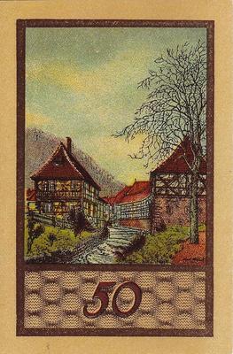 50 пфеннигов 1922 Германия г.Зуль (Тюрингия). Нотгельд.