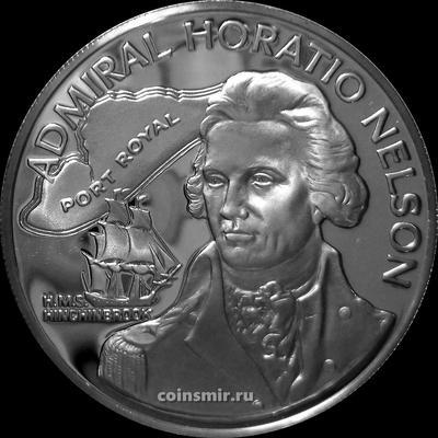 10 долларов 1976 FM Ямайка. Адмирал Горацио Нельсон.