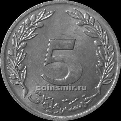 5 миллим 1960 Тунис.
