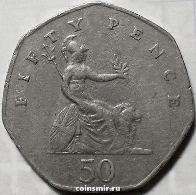 50 пенсов 1982 Великобритания.