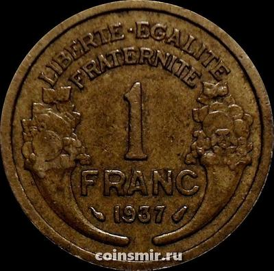 1 франк 1937 Франция.