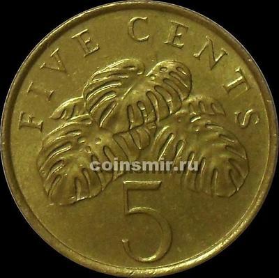 5 центов 1995 Сингапур.