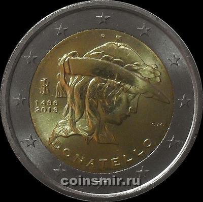 2 евро 2016 Италия. Донателло.