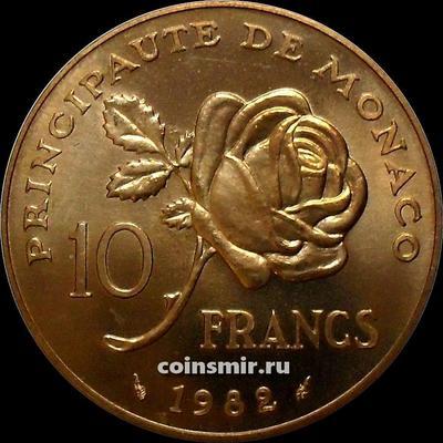 10 франков 1982 Монако.  Грейс Келли.